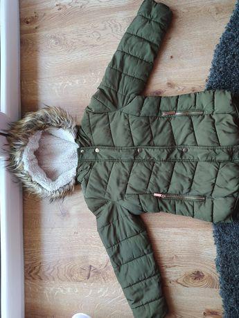 Cieplutka kurtka zimowa Primark dla dziewczynki na 9-10 lat