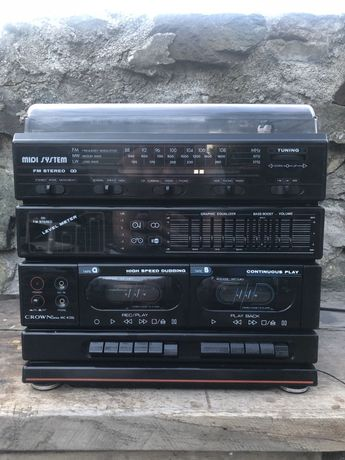 WIEŻA HIFI japan CROWN MC-K20L gramofon tuner retro vintage