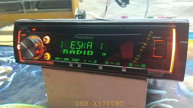 Radio Pioneer DEH-X5700BT cd aux usb bluetooth multicolor mixtrax