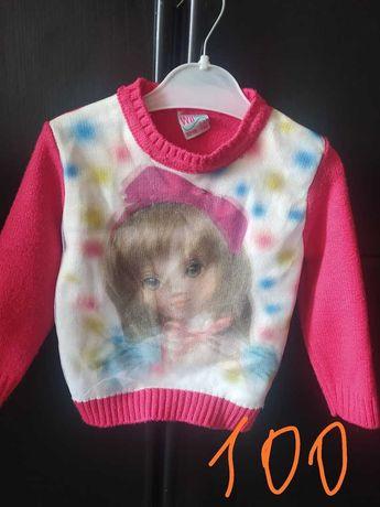 вязанный свитер на девочку