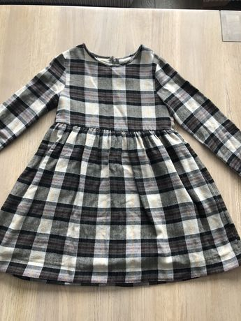 Sukienka w kratkę Zara rozm 8lat