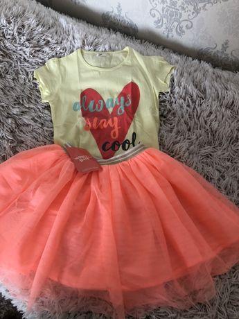 Фатиновая юбка H&M ,яркий летний набор