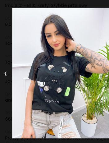 T'shirt miś czarny