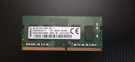 Оперативна пам'ять SO-DIMM Kingston 4GB DDR4 2666MHZ для ноутбуків