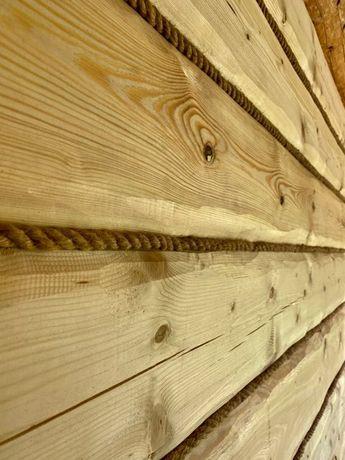 Deska ręcznie elewacyjna obrabiana elewacja drewniana nieregularna