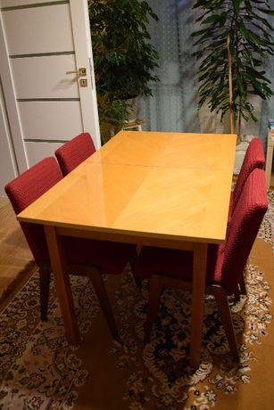 stół rozkładany klasyczny krzesła 4 szt.