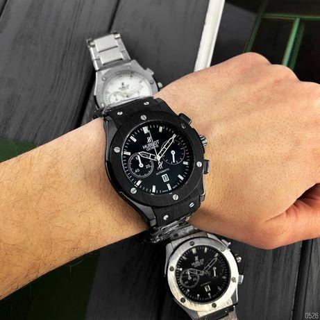 Мужские наручные часы. Металлические часы. Фирменная коробка.Каучук