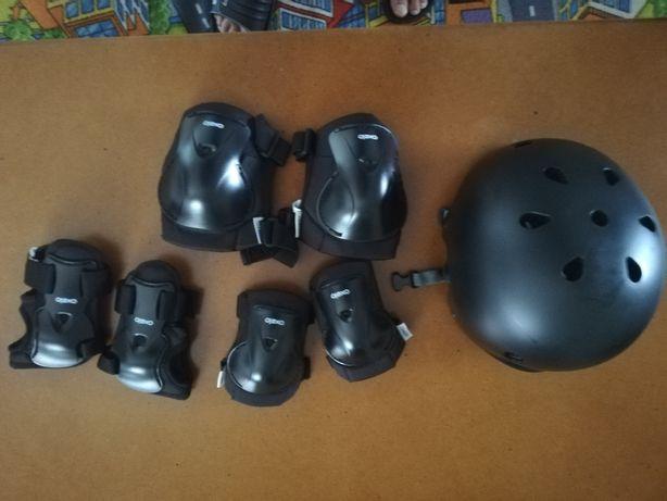 Kit protecção skate, patins e trotinete, incluindo capacete