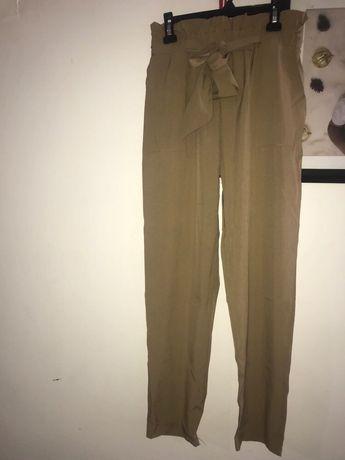 Beżowe spodnie na lato, cieniutkie