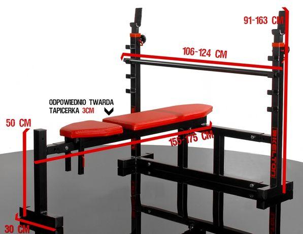 Ławka pod sztangę ŁAWECZKA Hyperion - 8-poziomowa regulacja