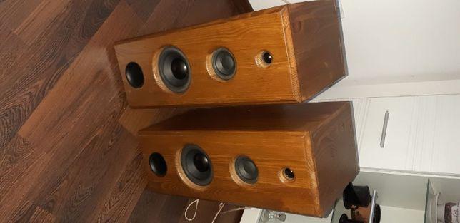Praktycznie nowe kolumny w drewnie