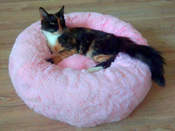 Мягкие круглые пуфики лежаки для кошек, котов и собак от производителя