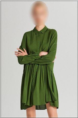 Modna młodzieżowa sukienka koszulowa - rozm. S