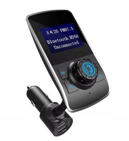 TRANSMITER FM Bluetooth Ładowarka 2xUSB 3w1