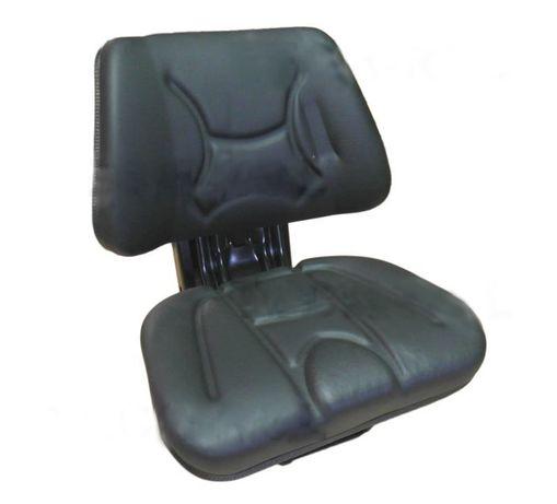 Siedzenie amortyzowane dwuczęściowe czarne do ciągników rolniczych ECO