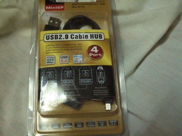 USB 2.0 Cable HUB 4Port