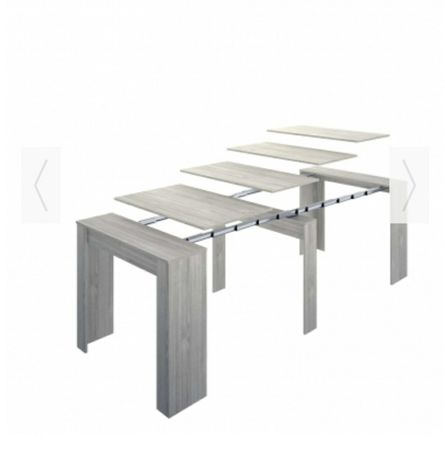 Mesa extensível branca