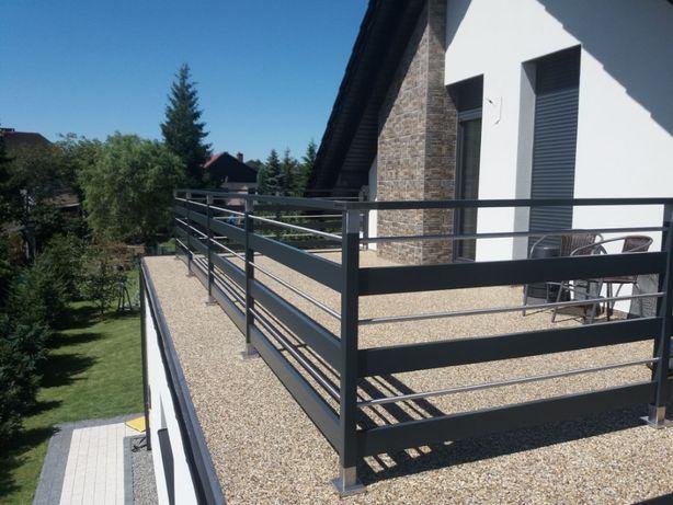 Balustrada balkonowa barierka nowoczesna montaż balkon poręcz taras