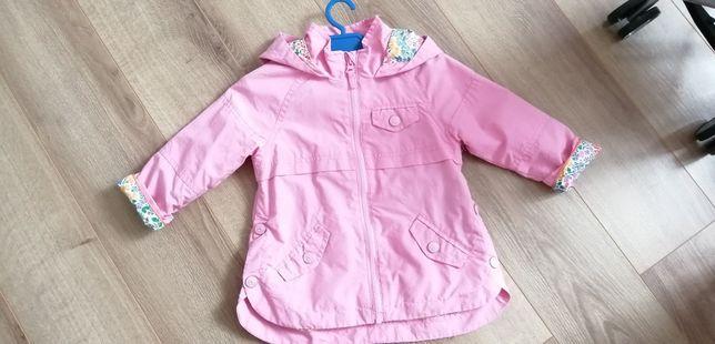 Kurtka kurteczka 98 dla dziewczynki płaszcz plaszyk różowy wiosenny