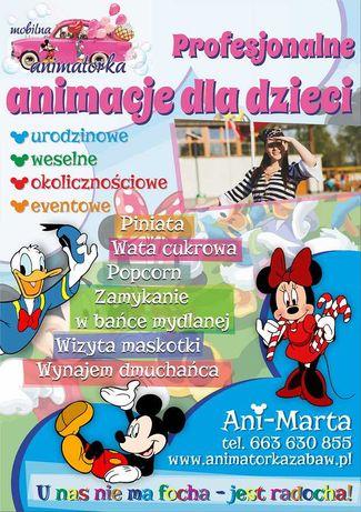 Animatorka,animator,animacje, dmuchaniec, zjeżdzalnia,Candy Bar :)