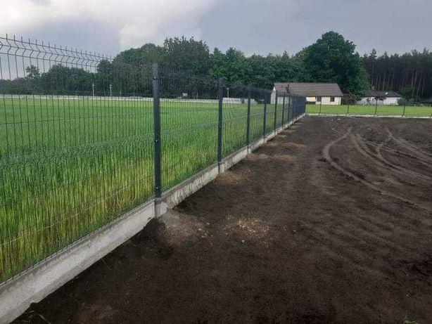 Panele ogrodzeniowe h-1,33 , ogrodzenia panelowe ,podmurówka