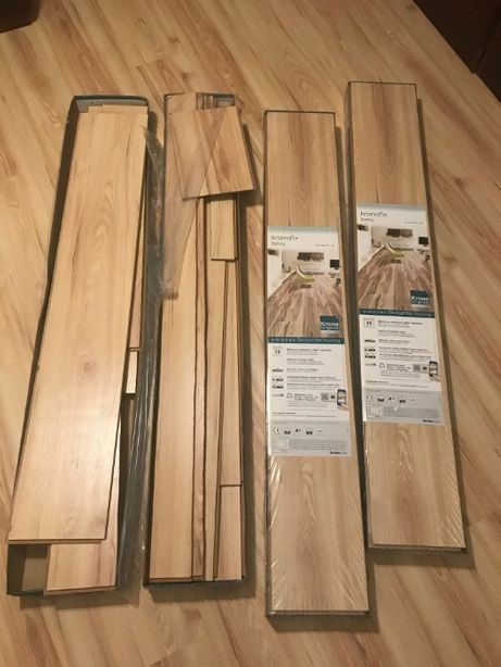 Panele podłogowe - resztka po remoncie