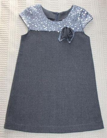 Sukienka śliczna 110 cm 5 lat Cekiny bardzo Elegancka