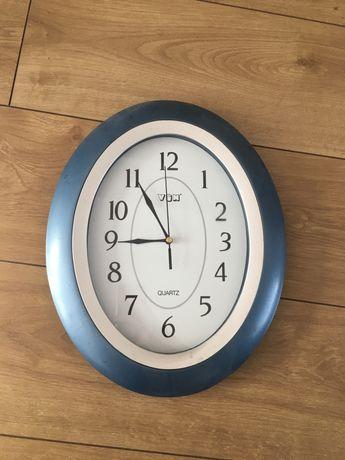 Zegar ścienny na ścianę kolor niebieski zegarek