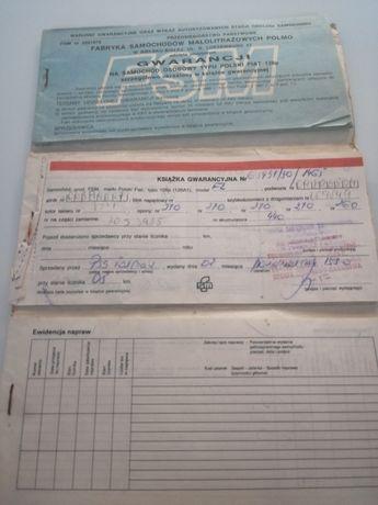 Książka gwarancja Polski Fiat 126p