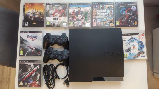 PlayStation 3 8 gier 2 pady