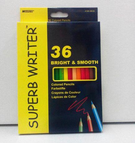 Карандаши акварельные цветные «Super Writer», 36 цветов, ТМ Marco