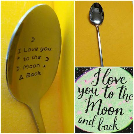Colher Amo-te daqui até à Lua.