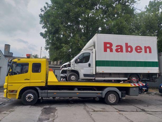 Pomoc Drogowa Laweta Transport Przyczep Sztaplarki Koparki Bus Dostawc