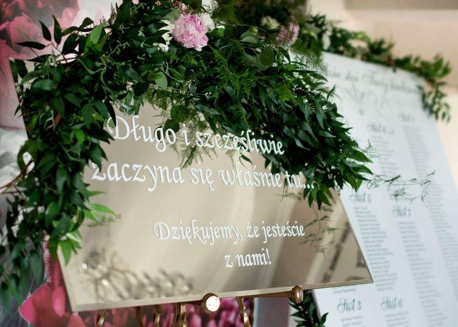 Tablica powitalna slub wesele
