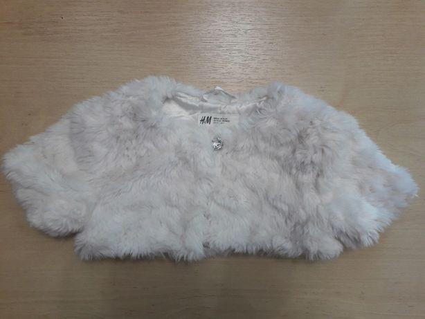 Стильная меховая плюшевая жилетка, безрукавка H&M