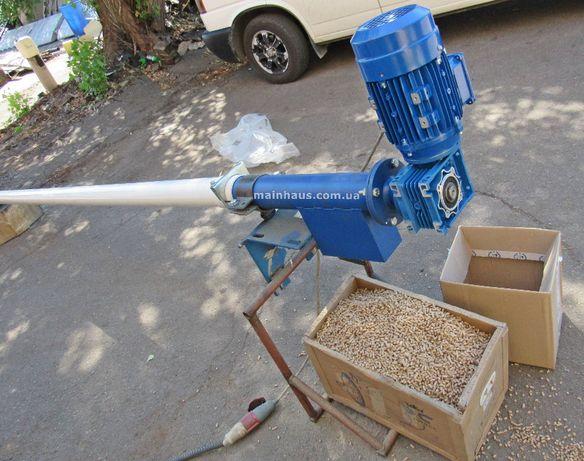 погрузчик зерна гибкий шнек спиральный конвейер90мм для пеллеты, корма