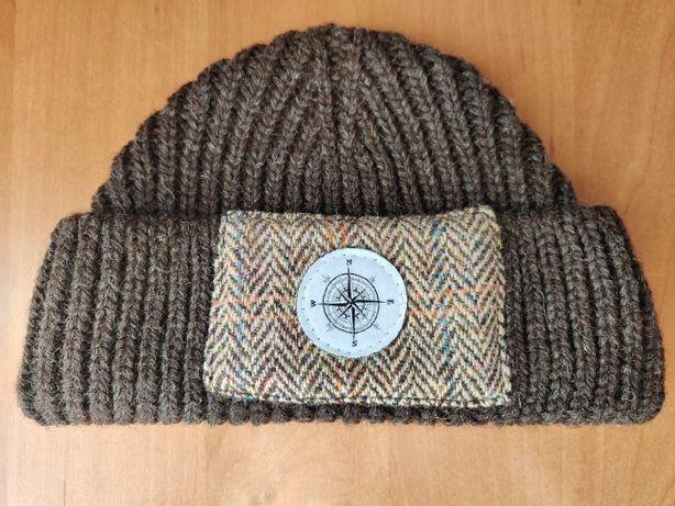 Harris Tweed Вязаная шапка Бини