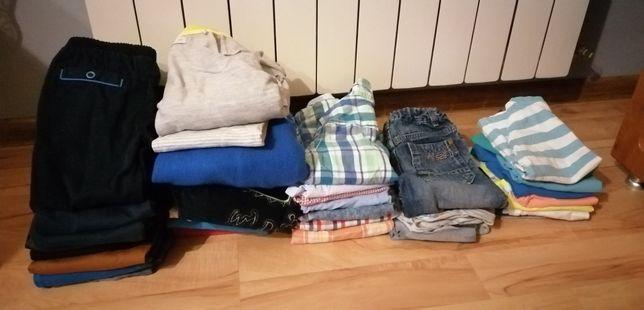 Ubrania dla chłopca rozmiar 104 zestaw 42 elementy