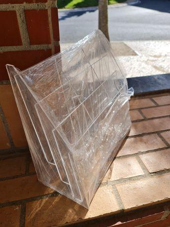 Porta folhetos Din 105x210mm 9 espaços