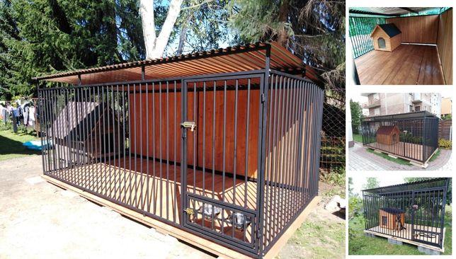 Kojec dla psa 4x2m, klatka, boks, zagroda, wiaty