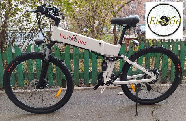 Электровелосипед складной двухподвес 350Вт, 40км/ч MTB 26' 40км/заряд
