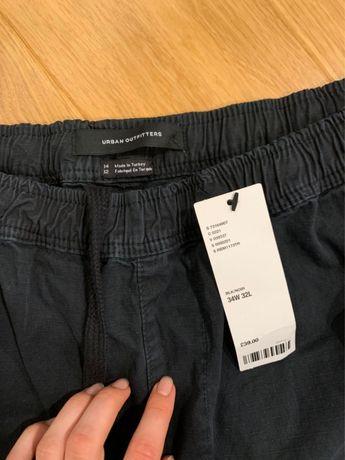 Штаны Urban Outfitters широкие чёрные 34/32
