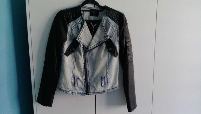Nowa kurtka damska New Yorker r. XS jeans/skóra ramoneska
