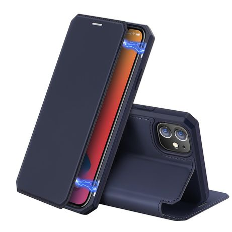 Capa Livro Horizontal Dux Ducis Skin X Iphone 12 Pro/ 12 - Preto