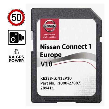 NISSAN - Cartão SD GPS Connect 1 Europa - Qashqai Juke Note - v10 2021