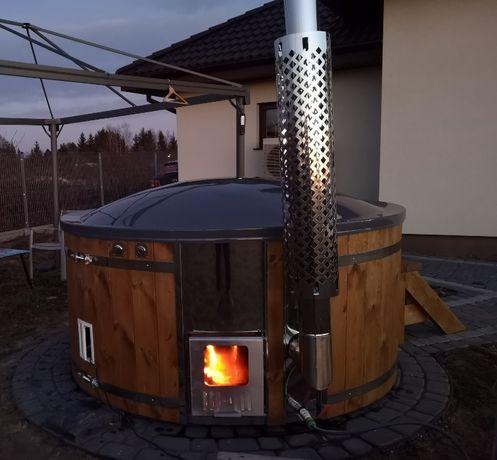 Exclusive Gorąca Beczka Kąpielowa Balia Ogrodowa Bania Ruska Sauna