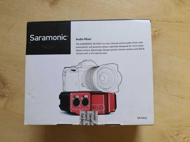 Adapter audio Saramonic SR-PAX2 z przedwzm.-dwukanałowy