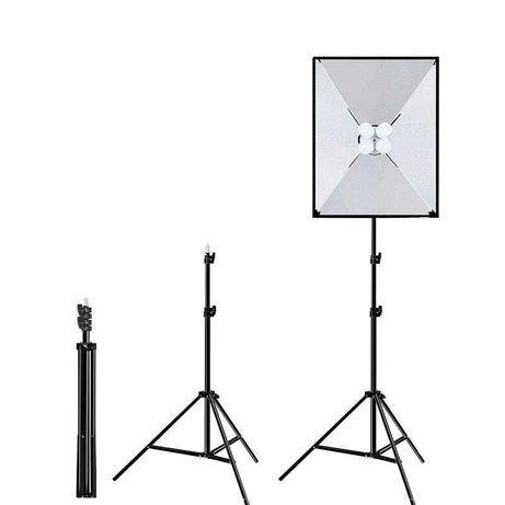 PULUZ - SoftBox - 50x70cm Com Tripé - 4 Lâmpadas  - Novo
