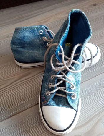 Trampki jeansowe