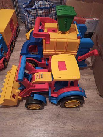 Wader машинки вадер трактор мусоровоз самосвал